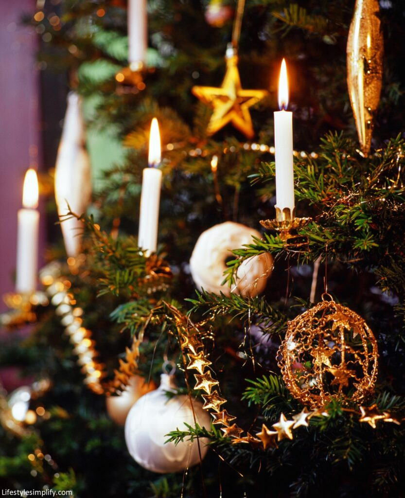 Candle Holder Christmas Tree Topper