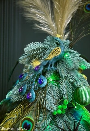 Peacock Feathers Christmas Tree